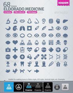 68 AI and PSD Medicine strict Icons #GraphicRiver