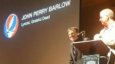 John Perry Barlow John Perry Barlow Pioneers In Sharing Internet Archive Award October 2015 John Perry Barlow, Grateful Dead, Affirmations, Broadway Shows, Archive, October, Internet, Positive Affirmations, Confirmation