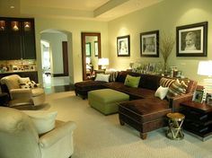 Dallas, Texas contemporary family room