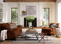 Earth tones with lots of white...a nice alternative.