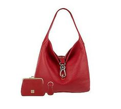 Dooney & Dourke Leather Hobo with Logo Lock and Accessories from QVC.  Get your rebate from RebateGiant.