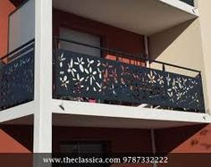 laser cut balcony panels - All About Balcony Modern Stair Railing, Balcony Railing Design, Staircase Railings, Laser Cut Panels, Laser Cut Metal, Laser Cutting, Metal Panels, Balcony Grill, Iron Balcony