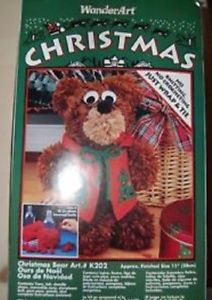 WonderArt - CHRISTMAS BEAR Kit New in Box 1994 No Knitting or Crocheting K202 #ebay #trinital #christmasbear