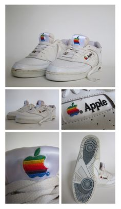 fa082bf25e8b rare apple branded sneakers given to employees in the early to promote the  brand. You don t really see these anymore because the brand has taking off  and ...