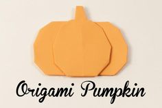 an Easy Origami Pumpkin With These Directions Make an easy origami pumpkin!: Modular Origami Pumpkin InstructionsMake an easy origami pumpkin! Cute Origami, Origami Star Box, Origami Envelope, Origami Ball, Origami Fish, Easy Origami, Origami Ideas, Origami Paper Folding, Modular Origami