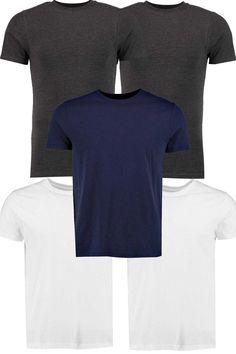 #FashionVault #boohoo #Men #Tops - Check this : boohoo 5 Pack Slim Fit TShirts - multi for $ USD