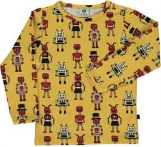 d70dc5ca281f08 Robot Long Sleeve Shirt in Yellow – Modern Rascals. From Smafolk