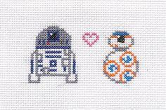 Star Wars cross stitch  R2D2 and BB8