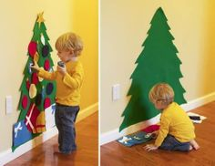 Make a toddler tree out of felt! Your little one can decorate and redecorate to their heart's content!