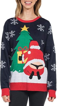 Christmas Sweatshirt Jumper Funny Xmas Smart Top Hat Snowman Sweat Scarlet