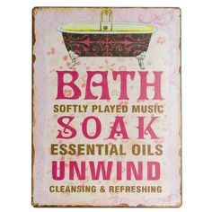 obrazek metalowy, tabliczka do łazienki #bath #bathroom #metal #plate #panel #picture #oldschool #vintage #pink