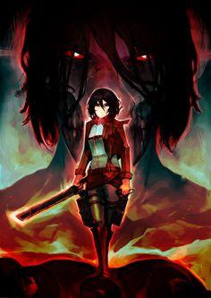 I LOVE Eren & Mikasa TOGETHER!!! Ultimate Protector/Predator Attack on Titans by humantyphoon89.deviantart.com on @deviantART