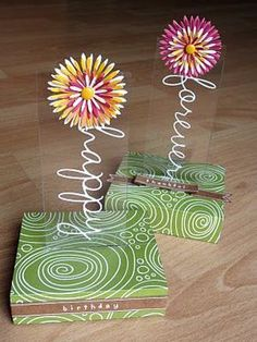 This is a card! It folds flat in an envelope. There's a tutorial on how to do it here.: