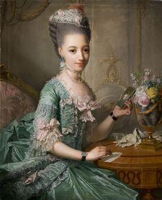 Sophie Friederike of Mecklenburg-Schwerin,Hereditary Princess of Denmark and Norway byGeorg David Matthieu, c. 1774