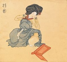 An 18th century Korean beauty. Attributed to Kim Hong-Do (A.D. 1745- ?) © Seoul National University Museum.