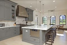 Gray Kitchen Cabinets Design Ideas, Pictures, Remodel, and Decor - page 3