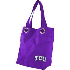 Littlearth Color Sheen Tote - Big 12 Teams ($31) ❤ liked on Polyvore featuring bags, handbags, tote bags, fabric handbags, purple, oversized tote handbags, purple tote bag, oversized purse, purple handbags and handbags purses