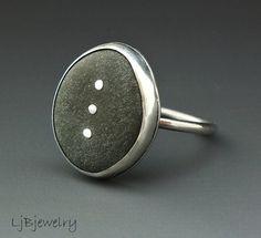 Beach-Stein-Schmuck Silber Ring Sommerstyle von LjBjewelry auf Etsy