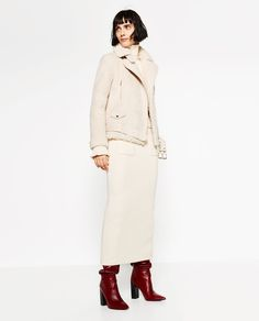 SUEDE EFFECT AND FLEECY JACKET-View all-OUTERWEAR-WOMAN | ZARA United States