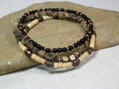 Mens Bracelet Mens Jewelry Beaded Bracelets by StoneWearDesigns, $43.00