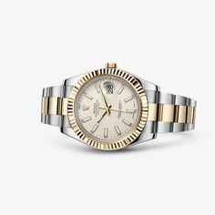 Rolex Datejust II, steel and yellow gold, ivory colored dial