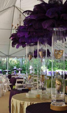 Beautiful Mardi Gras and Masquerade tablescapes!