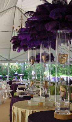 Beautiful Mardi Gras and Masquerade tablescapes!