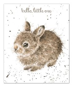 Little Leveret - Birthday card featuring a baby hare from artist Hannah Dale at Wrendale Designs Cute Illustration, Watercolor Illustration, Watercolor Paintings, Watercolours, Rabbit Drawing, Rabbit Art, Baby Animals, Cute Animals, Wrendale Designs