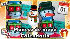 DIY| Haz un muñeco de nieve | Calendario navideño | ⛄ 🎁 🎄 🎅⛄ 🎁 🎄 🎅⛄ 🎁 🎄 🎅