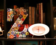 Diy Bottle Cap Crafts 337770040772706190 - Bottle Cap Monogram – mancave project for josh! hmm i think we drink enough beer to make this pretty quickly. Source by Bottle Cap Magnets, Beer Bottle Caps, Bottle Cap Art, Beer Caps, Beer Bottles, Bottle Cap Projects, Bottle Cap Crafts, Diy Bottle, Diy Arts And Crafts