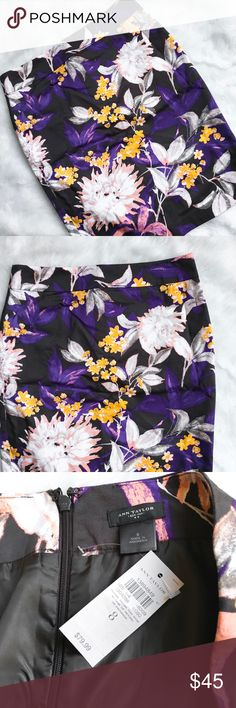Ann Taylor Floral Pencil Skirt Lovely floral pencil skirt from the Ann Taylor Outlet. Beautiful colors that works all year round. Size 8. Brand new with tags!! Ann Taylor Skirts Pencil
