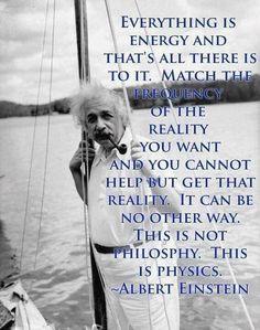 ~ Eisnstein Quote on Energy