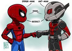 Spider-Man and Ant-Man by Lord Mesa