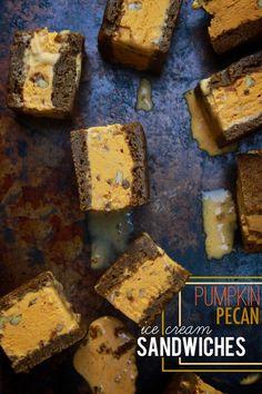 Pumpkin Pecan Ice Cream Sandwiches // shutterbean