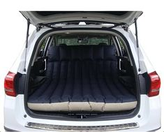 The wave design of this double car air bed mattress makes it comfortable and stable. Use in your car's cargo area or outdoors when camping or at the beach.