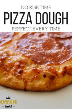 Perfect pizza dough every time! No rise time, ready now, freeze some for later! … Perfect pizza dough every time! No rise time, ready now, freeze some for later! Pizza Dough Recipe Quick, Quick Pizza, Quick Bread, No Rise Pizza Dough, No Yeast Pizza Dough, Perfect Pizza, Cooking Recipes, Pizza Recipes, Pizza