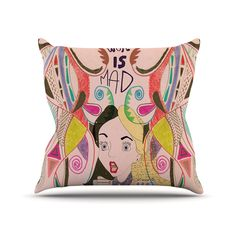 Fall into a world of wild color and wonderful madness. This playful pillow brings a bright wonderland to cozy up on your sofa.