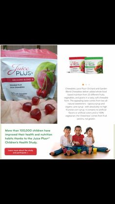 ‼️ PARENTS ‼️ This plan isn't just for adults  Juice plus children's chewables are a healthy
