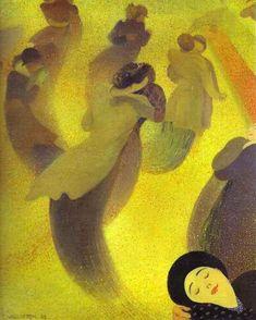 félix edouard vallotton(1865-1925), the waltz, 1893. oil on canvas, 60.5 x 50 cm. private collection http://www.wikipaintings.org/en/felix-vallotton/the-waltz-1893