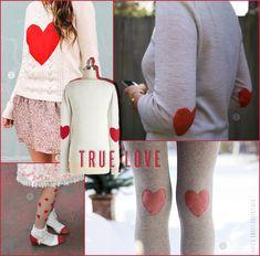 Valentine's hearts in DIY fashion.