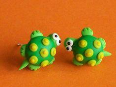 turtles stud earrings polymer clay fimo handmade by CreationsbyMD, $4.00