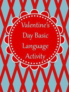 Valentine's Day Basic Language Activity