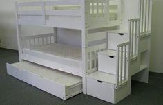 das richtige hochbett mit treppe im kinderzimmer weiß lagerraum