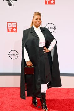 Queen Latifah in Thom Browne and Christian Siriano at the BET Awards   Tom + Lorenzo Bet Awards, Queen Latifah, Christian Siriano, Thom Browne, Personal Style, Style Inspiration, Clothes, Outfits, Fashion