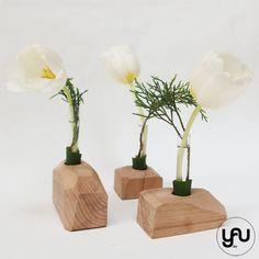 Lalele albe si structuri geometrice din lemn YaU | YaU Concept BLOG