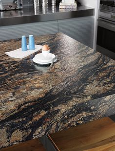 Formica 180fx 3548 Magma Black Black is available in Radiance Finish, which deepens the black background and accents the pebbles and crystals.