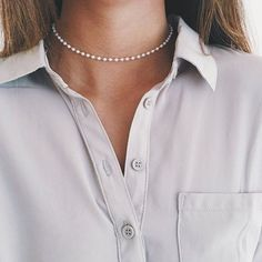 Choker Perlenkette Simple  | eBay