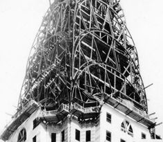 Walter Chrysler ordered the construction, in secret, of a 185-foot-high steel spire inside his building's uncompleted tower. When it was raised on October 23, 1929, the 77-story Chrysler Building, at 1,046 feet tall, was the highest structure ever built—but only for 11 months, until it was superseded by the Empire State Building.
