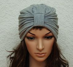 Full turban, light grey turban hat for women, full head covering, viscose jersey turban, summer hat, women's hat, fashion turban by accessoriesbyrita on Etsy