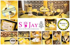 Mommy To BEE Themed Baby Shower Dessert Table by S Jay Event and Wedding Coordinating 2013   LIKE US ON FACEBOOK https://www.facebook.com/sjay.co
